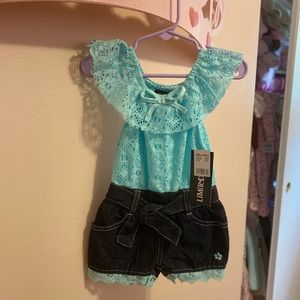 One piece shorts romper